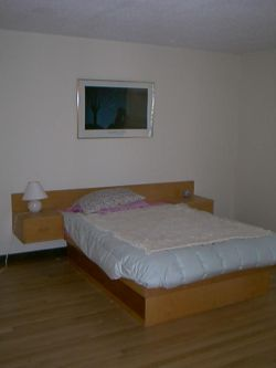 a picture of the Ashram bedroom