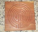 A picture of a wooden Labyrinth for sale.