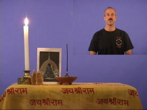 Picture of Swami teaching Kriya Yoga Theory 1 on Video