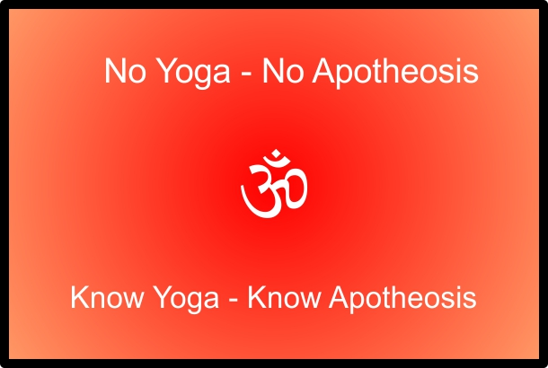 a picture of a poster saying no yoga, no apotheosis; know yoga, know apotheosis, about us.