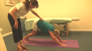 A picture of a Kriya Yoga Asana for Kriya Yoga Massage.