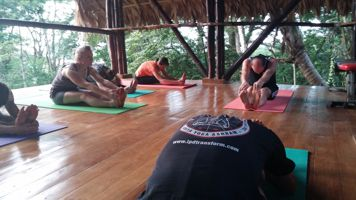 A picture of Kriya Yoga Asana Class at KYSA in Costa Rica