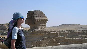 a picture of the Sphinx in Egypt to represent Samadh.