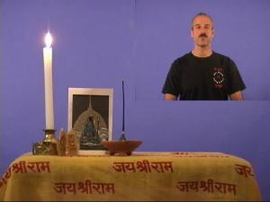 Picture of Swami teaching Kriya Yoga Theory 1 on Video