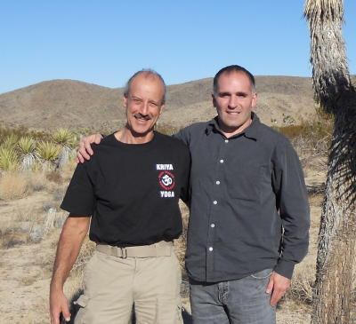 Picture of Swami and Tony Anni at Joshua Tree